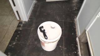 Getting ready to remove black tar mastic adhesive