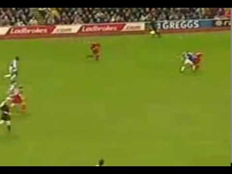 Andy Cole 35 Yarder Top Corner Goal