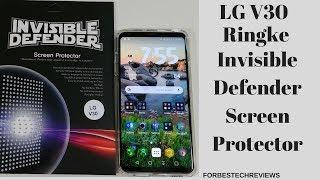 LG V30 Ringke Invisible Defender Screen Protector Review