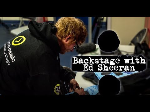 Backstage with Ed Sheeran