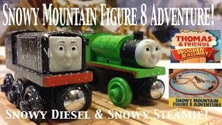 Thomas And Friends Trackmaster Village Wooden Railway Snowy Mountain Figure 8 Adventure Set!