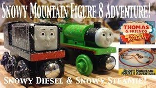 Thomas And Friends Trackmaster Village Wooden Railway Snowy Mountain Figure 8 Adventure Set!