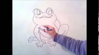 hvordan å tegne en frosk