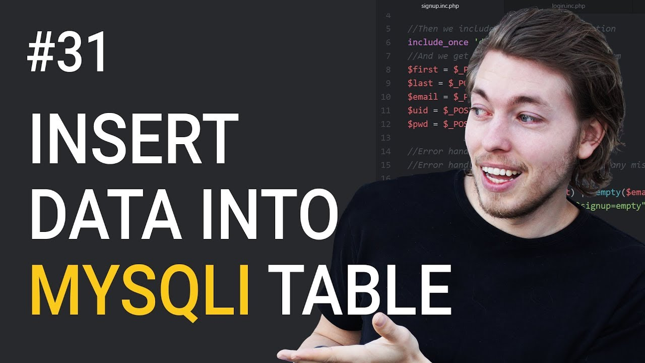 31: MySQL Insert Into Database | PHP Tutorial | Learn PHP Programming | PHP for Beginners