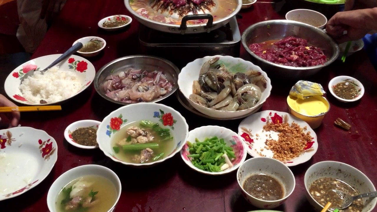 Download Cambodian Family Foods,Asian Food,Eating Lunch at my hometown.