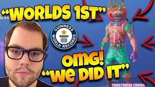 Dakotaz Gets The WORLD 1ST Tomatohead Crown Skin ( MUST SEE) - Fortnite Best and Funny Moments