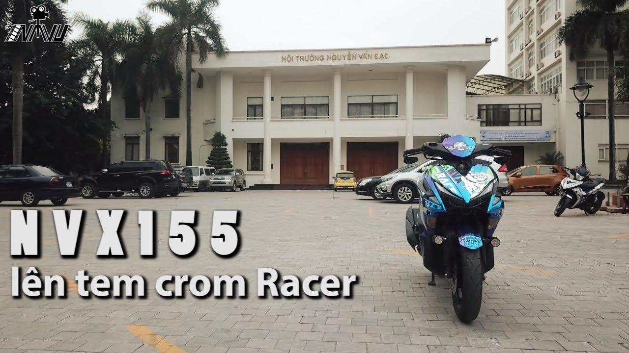 NVX 155 sáng bóng trong bộ tem crom Racer | Motoshow 2