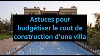 Construire Villa Maroc Prix