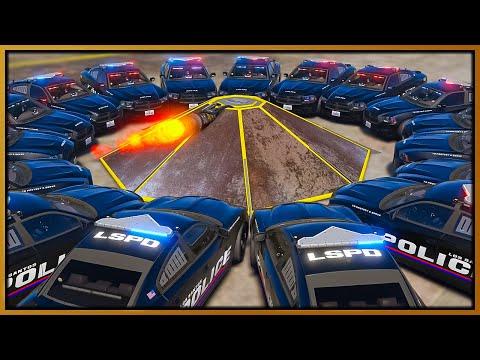 GTA 5 Roleplay - 360 JET FLIP CAR DESTROYS COPS   RedlineRP