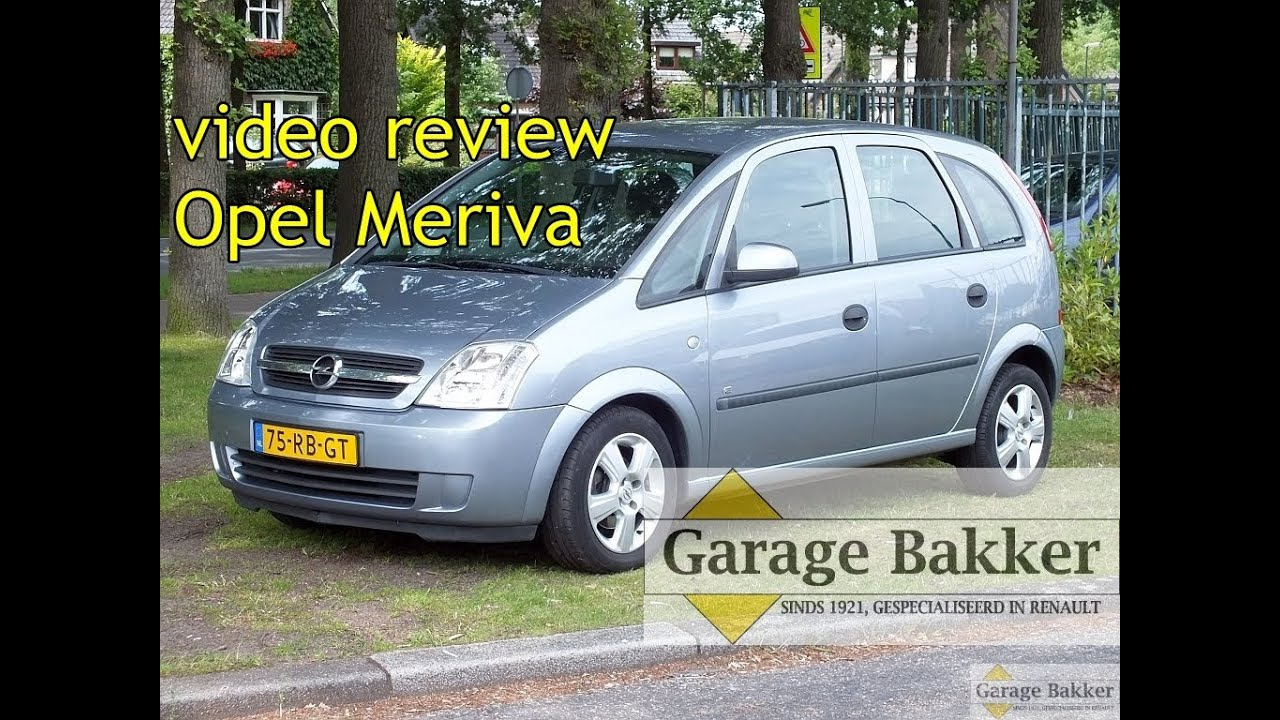 video review opel meriva 1 4 16v enjoy 2005 75 rb gt youtube. Black Bedroom Furniture Sets. Home Design Ideas