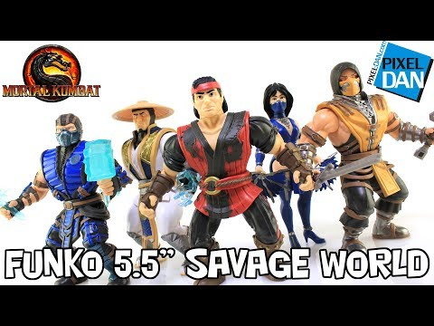 "Funko Mortal Kombat X 55"" Savage World Action Figures  Review"