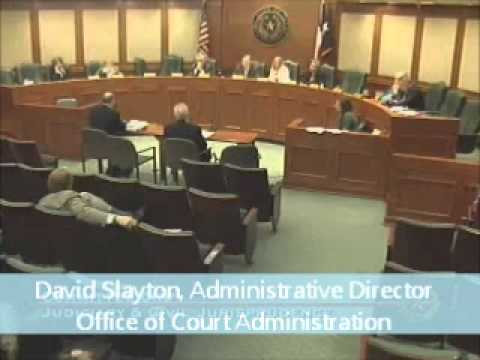 Texas State Court Administrator testifies before House committee on e-filing in the state