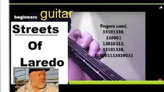 Streets  Of  Laredo, western folk song guitar fingers numbered