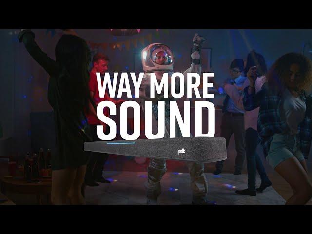 Way More Sound. Way More Than a Sound Bar. Introducing Polk React.