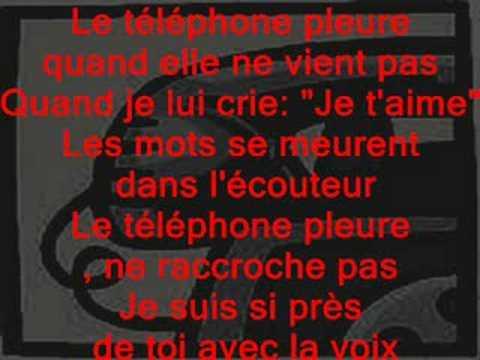 claude francois le telephone pleur