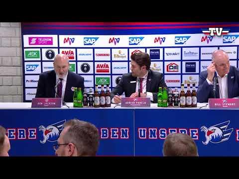 Pressekonferenz: Adler Mannheim - Red Bull München
