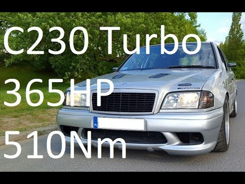 365HP and 510Nm TURBO M111 C230 w202 Mercedes with A45 AMG turbines on dyno tune boost tuning