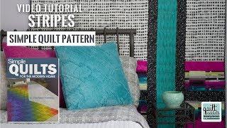 Super Simple Strip Pieced Modern Quilt Pattern for Big Bold Prints