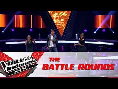 Rafa & Willy & Tania Akad  Battle Rounds  The Voice Kids Indonesia Season 2 GTV 2017