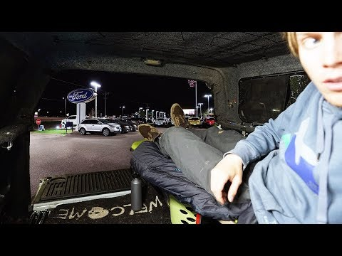 Urban Stealth Truck Camping Overnight In Ford Dealership