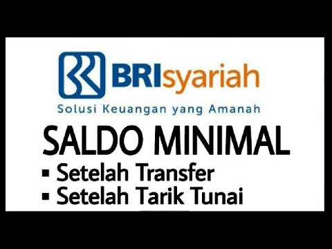 Saldo Minimal Bank Bri Syariah Setelah Transfer Tarik Tunai Youtube