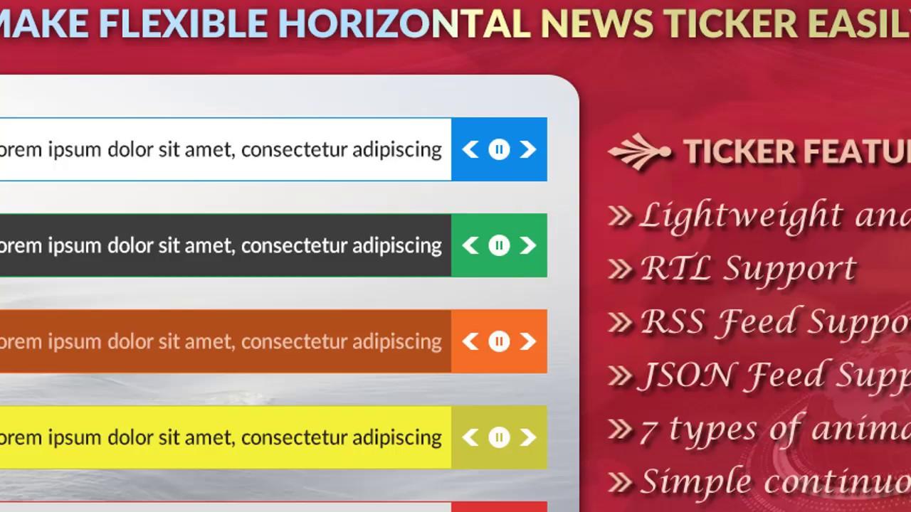 T4B News Ticker Pro – Flexible Horizontal News Ticker WordPress Plugin