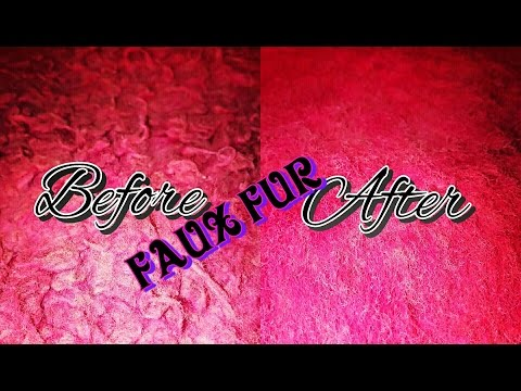 How to clean your FAUX FUR at home