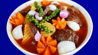 Cách làm BÒ HẦM TIÊU XANH Mềm Tan Đậm Đà Thơm Ngon Xém Xỉu - Món Ăn Ngon
