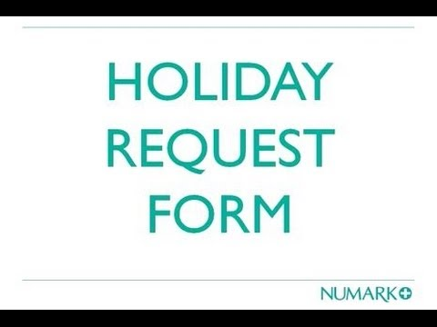 Numark  Holiday Request Form  Youtube