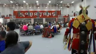 KD Edwards Gourd Dance & PowWow @ Bernalillo High School Clip 3 - Pow Wow Grand Entry