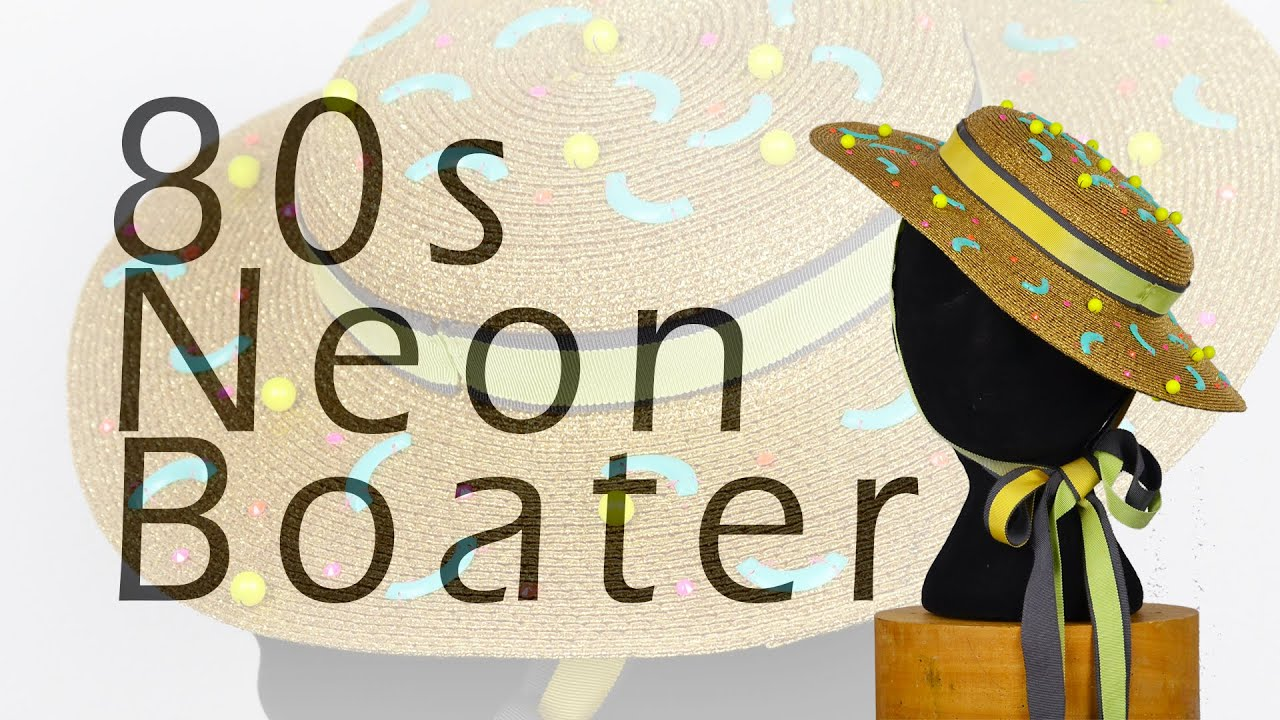 How to make an 80s inspired boater