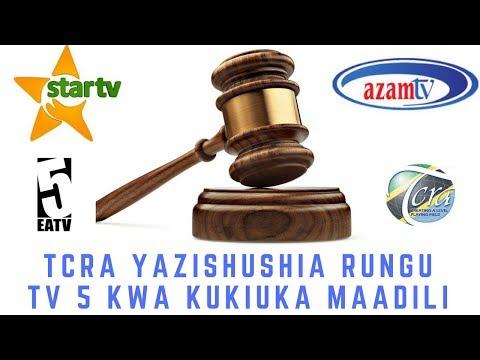 Download Breaking News: EATV, ITV na Channel 10 Zapigwa Faini na TCRA kwa Kukiuka Maadili