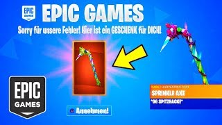EPIC GAMES gives *FREE* ITEMS to EVERYONE in Fortnite...