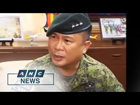 Army Chief Sobejana is new Chief of Armed Forces of the Philippines   ANC
