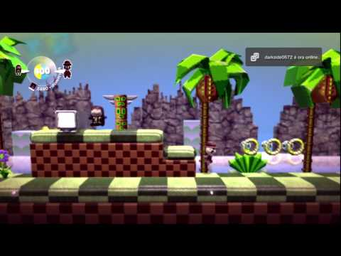 Little Big Planet - Sonic The Sackhog: Green Hill Zone Act 1 - Online (1)