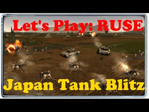Let's Play RUSE: Japan Tank Rush Strategy