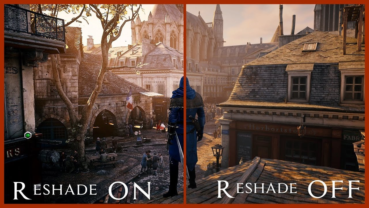 Assasins Creed Unity: Photoreal Reshade MOD Comparison, better graphic than  AC Origins , AC Odyssey?