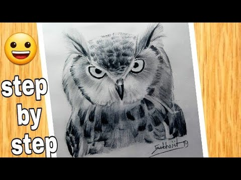 how to draw an owl easy         #Owldrawing  #drawing #sketch
