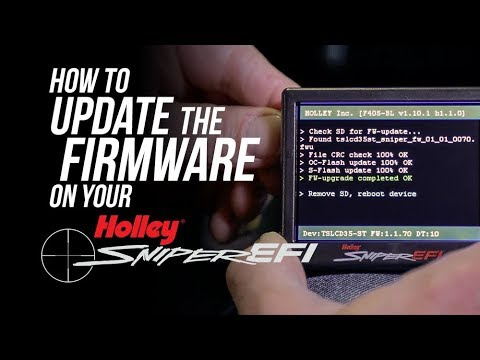 Holley Sniper EFI Firmware Update