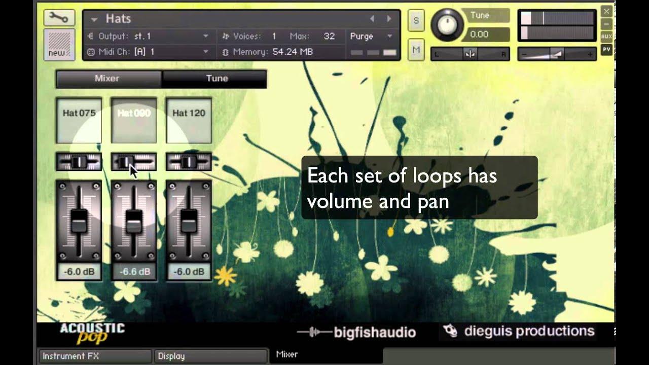 Big fish audio presents acoustic pop drum elements for Big fish audio