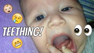 Firsts: Teething @ Three Months Old!