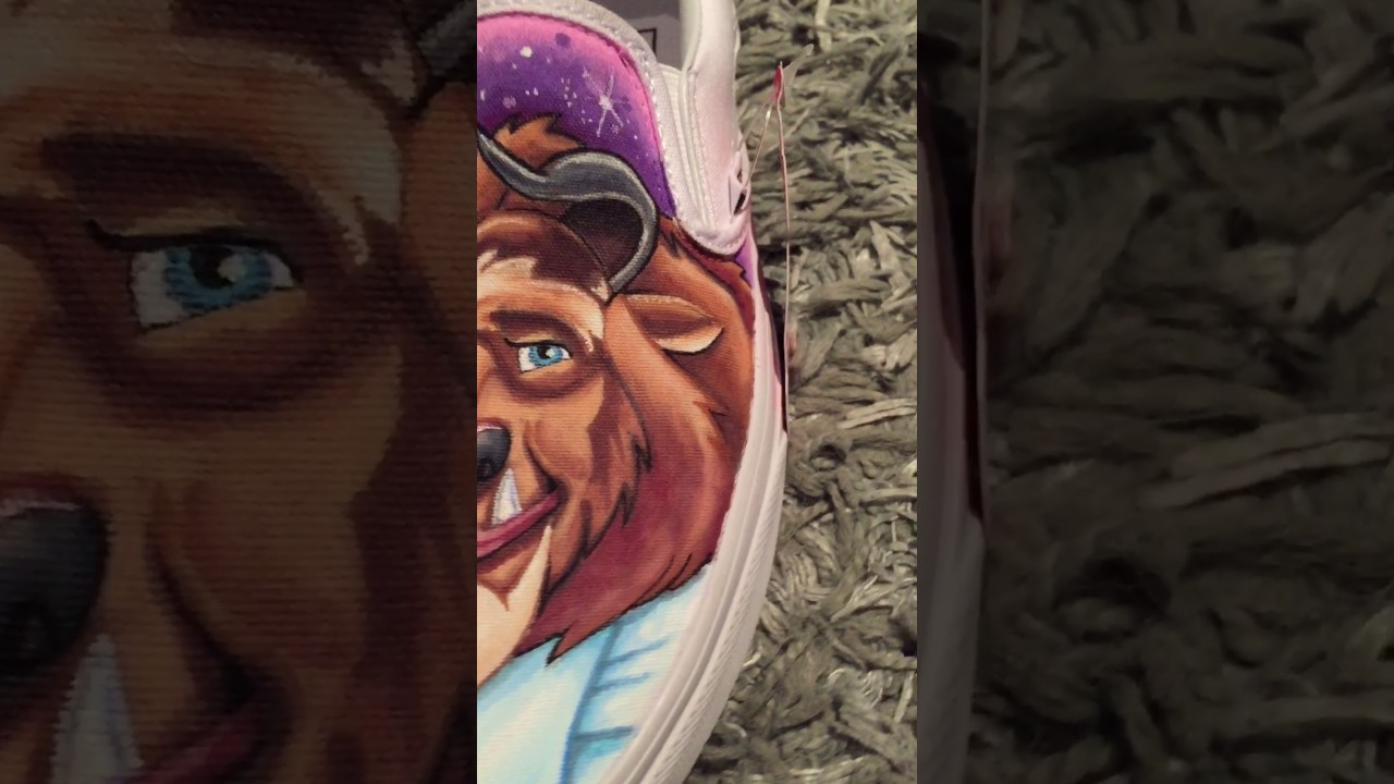 dd13df71c874db Hand painted Vans - Beauty and the beast Disney Converse - YouTube