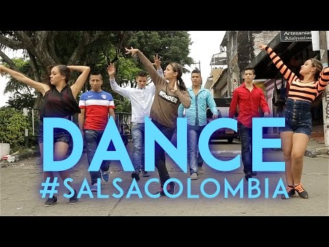 Salsa dancing cali colombia streets  - video
