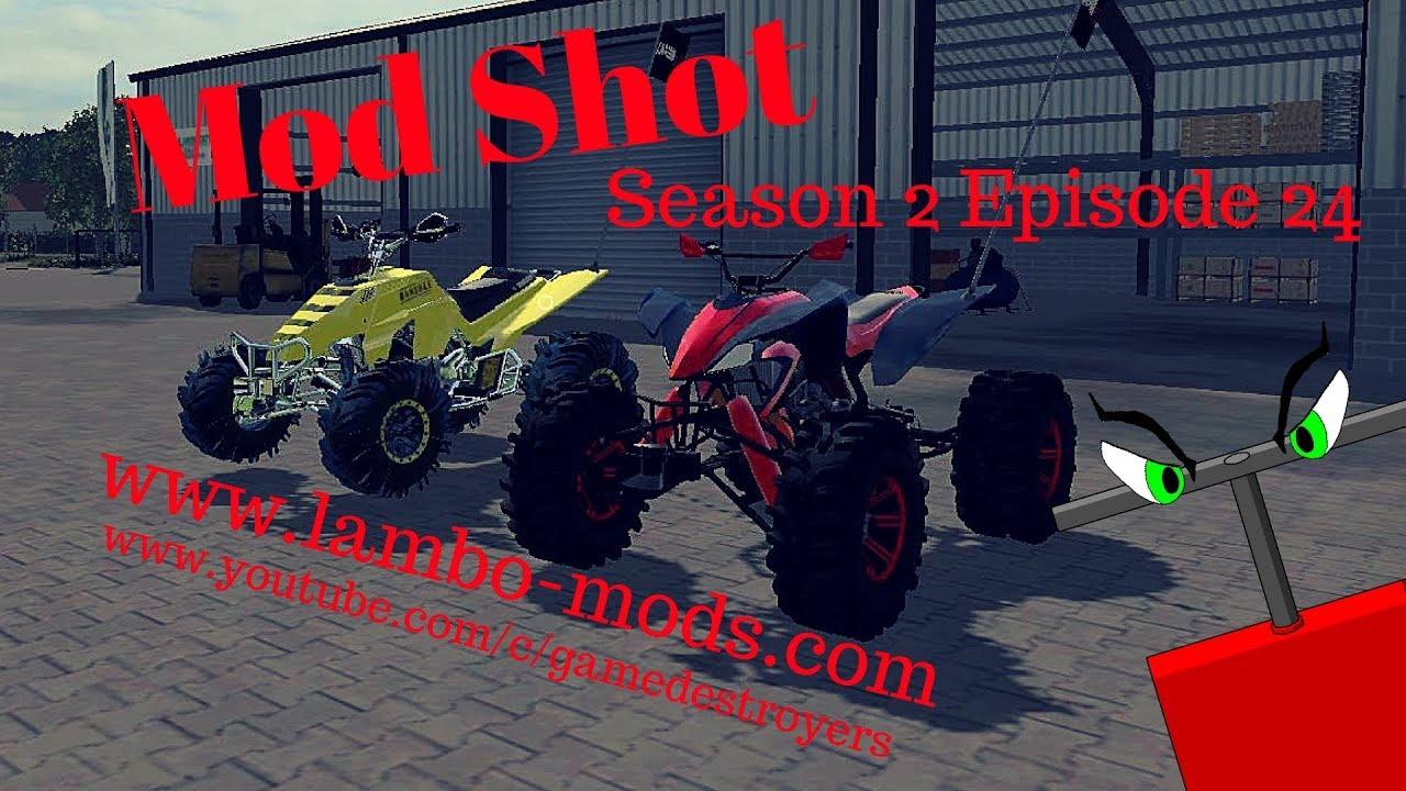 Farming Simulator 2017   Mod Shot S2E24   Lambo Mods ATV Racing Pack