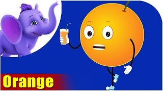 Orange Fruit Rhyme for Children, Orange Cartoon Fruits Song for Kids