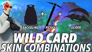"""Wild Card"" SKIN BEST BACKBLING + SKIN COMBOS! (Season 8) (Fortnite) (2019)"