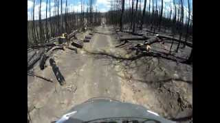forest fire devastation on r1200gsmp4