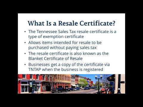 Tennessee Certificate