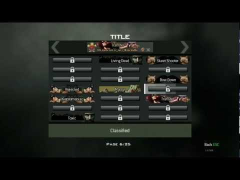 Call of Duty Modern Warfare 3 - Transfer title secret