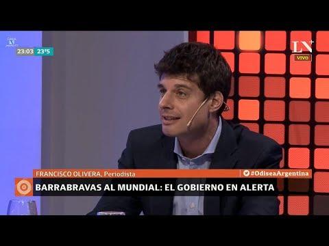"""""""Pancho"""" Ora sobre """"Barrabravas al mundial"""" en """"Odisea Argentina"""" de Pagni - 280518"""